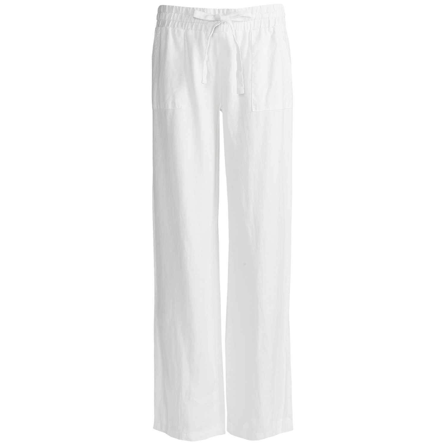 Simple Women Women39s Drawstring Linen Pants  Bright White  Old Navy