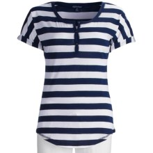 PJ Salvage Lounge Shirt - Cotton-Modal, Short Sleeve (For Women) in Navy - Closeouts
