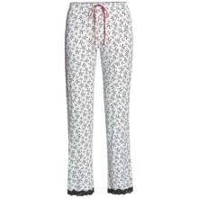 PJ Salvage Pajama Pants - Stretch Modal (For Women) in Ivory Bows And Bows - Closeouts