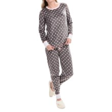 PJ Salvage Polar Fleece Lounge Set - Long Sleeve (For Women) in Grey - Closeouts
