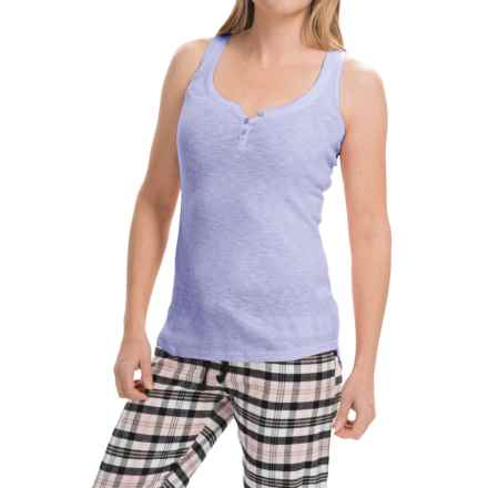 PJ Salvage Slub Rib Tank Top (For Women) in Blue - Closeouts