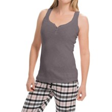PJ Salvage Slub Rib Tank Top (For Women) in Grey - Closeouts