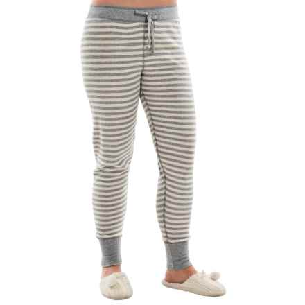 PJ Salvage Striped Thermal Joggers (For Women) in Heather Grey - Closeouts