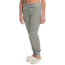 PJ Salvage Striped Thermal Joggers (For Women) in Olive - Closeouts