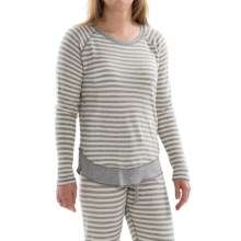 PJ Salvage Striped Thermal Shirt - Long Sleeve (For Women) in Heather Grey - Closeouts