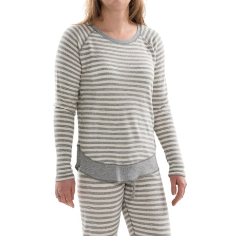 PJ Salvage Striped Thermal Shirt Long Sleeve (For Women)