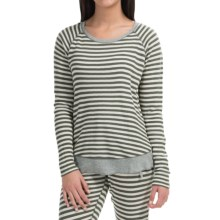 PJ Salvage Striped Thermal Shirt - Long Sleeve (For Women) in Olive - Closeouts