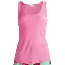 PJ Salvage Summer Separates Rib Tank Top - Cotton-Modal (For Women) in Pink - Closeouts