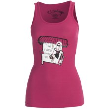 PJ Salvage Working Girls PJ Tank Top - Rib-Knit Cotton-Modal (For Women) in Fuchsia - Closeouts