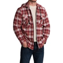 Plaid Shirt Jacket (For Men and Big Men) in Red/Brown - 2nds