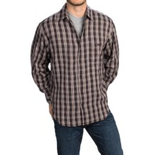 Plaid Shirt - Long Sleeve (For Men) in Vincent - 2nds