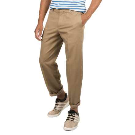 Plain Front Twill Pants - Relaxed Fit (For Men) in Dark Khaki - 2nds