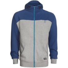 Plan B Contrast Hoodie Sweatshirt (For Men) in Blue - Closeouts