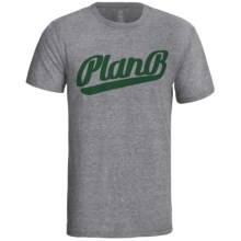 Plan B Tri-Blend Graphic T-Shirt -Short Sleeve (For Men) in Warning Graphite - Closeouts