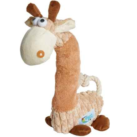 Planet Play Plush Giraffe Squeaker Dog Toy in Brown - Closeouts