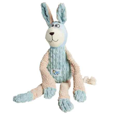 Planet Play Rabbit Squeaker Dog Toy in Teal - Closeouts