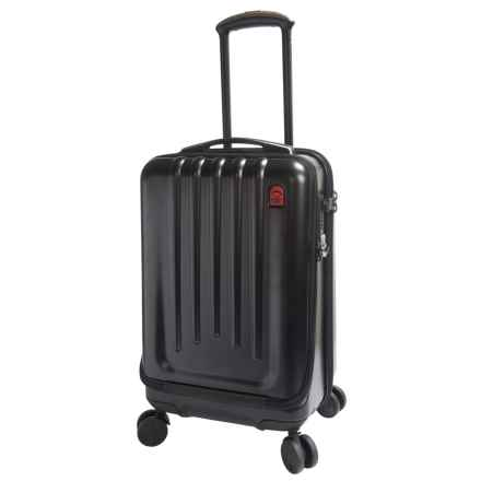 "Planet Traveler Space Case 1 Carry-On Spinner Suitcase - Hardside, 22"" in Stealth Black - Closeouts"