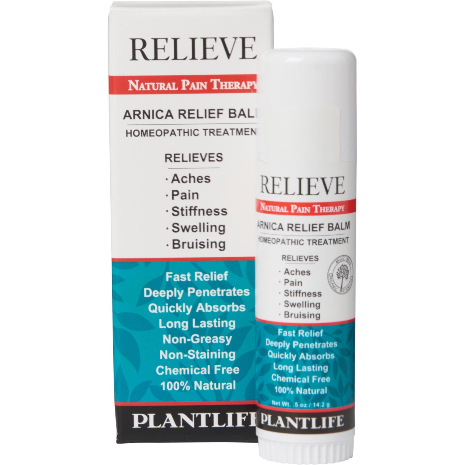 Plant Life Natural Body Care Homeopathic Arnica Pain Relief Balm - 0 5 oz