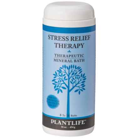 Plant Life Stress Relief Aromatherapy Therapeutic Bath Salts - 16 oz. in See Photo - Closeouts