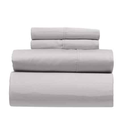 Platinum Performance Light Grey Luxury Sateen Weave Cotton Sheet Set - King, 400 TC in Light Grey - Closeouts