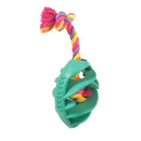 Play King Football Rope Dog Toy
