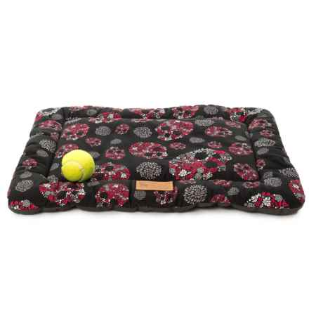 "P.L.A.Y. Pet Lifestyle and You Chill Pad Crate Mat - 24x18"" in Skulls & Roses - Closeouts"