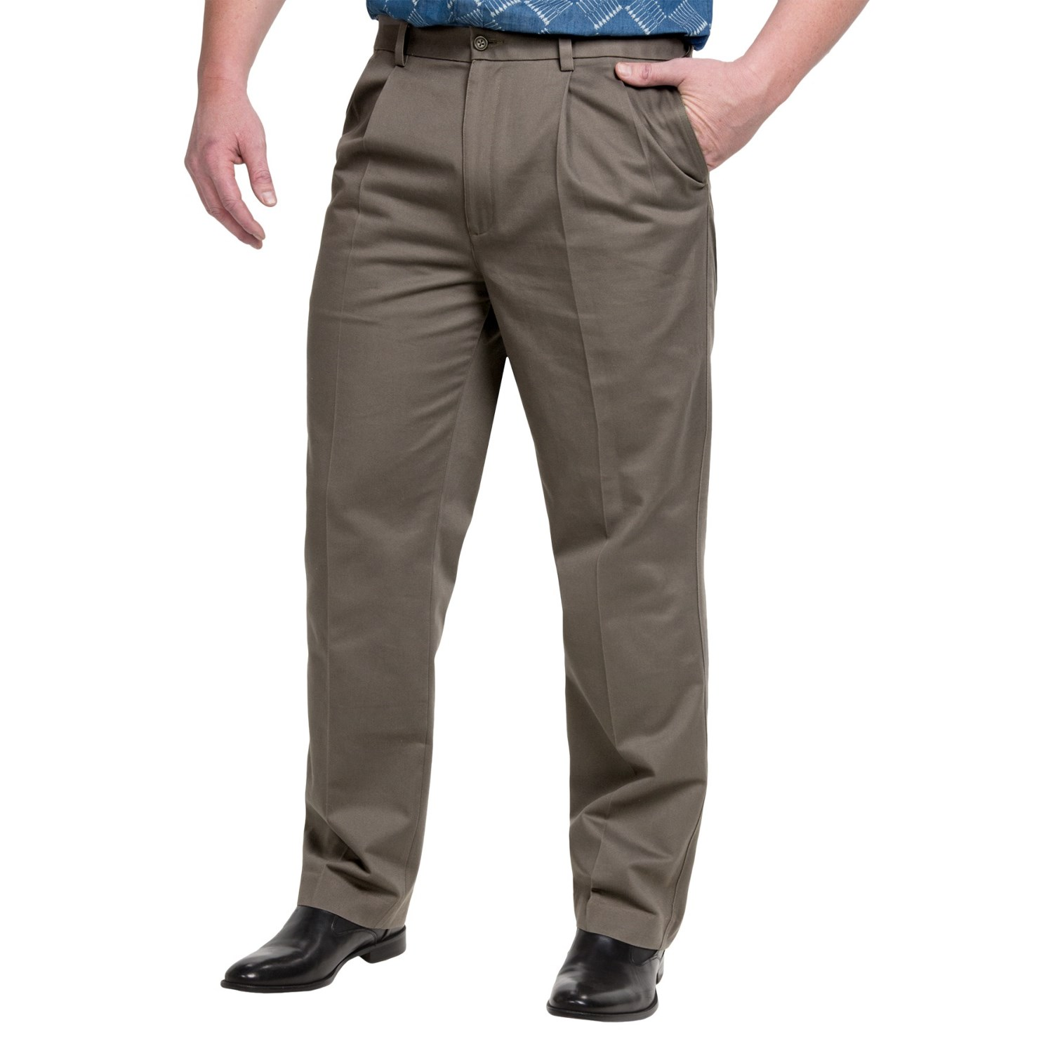 Pleated Cotton Pants (For Men) - Save 75%