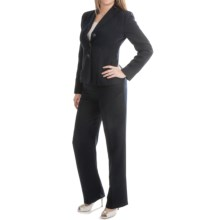 Pleated Jacket Pantsuit (For Women) in Navy - Closeouts