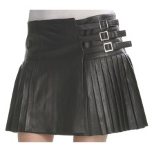 Pleated Lambskin Skirt (For Women) in Black - 2nds