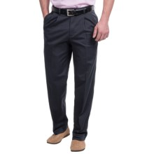 Pleated Twill Pants (For Men) in Navy - Closeouts
