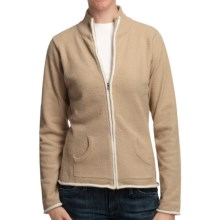 Plush by Colorado Clothing Cozy Jacket - Mock Neck (For Women) in Sesame - Closeouts