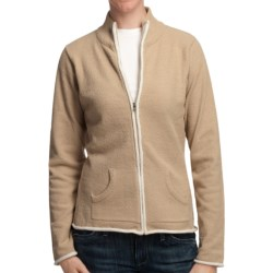 Plush by Colorado Clothing Cozy Jacket - Mock Neck (For Women) in Sesame