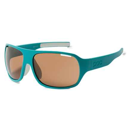 POC DO Flow Wrap Sunglasses (For Men and Women) in Beryl Green/Hydrogen White - Overstock