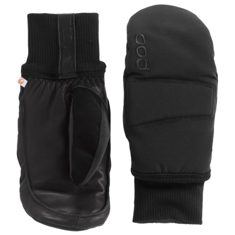 POC Nail Color Mittens - Waterproof, Insulated (For Men and Women) in Uranium Black