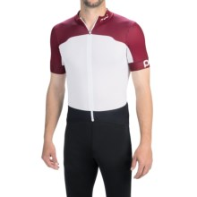 POC Raceday Climber Cycling Jersey - Full Zip, Short Sleeve (For Men) in Granate Red/Hydrogen White - Closeouts