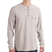 Pocket Henley Shirt - Long Sleeve (For Men) in Grey - 2nds