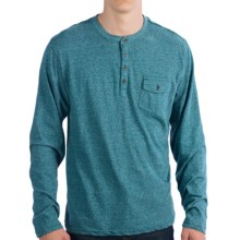 Pocket Henley Shirt - Long Sleeve (For Men) in Turquoise - 2nds