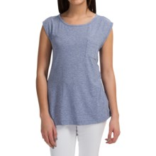 Pocket T-Shirt - Sleeveless (For Women) in Purple Heather - 2nds