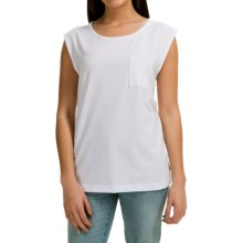 Pocket T-Shirt - Sleeveless (For Women) in White - 2nds