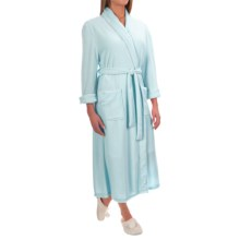 Pocketed Wrap Robe - Long Sleeve (For Women) in Blue - 2nds