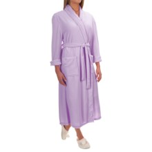 Pocketed Wrap Robe - Long Sleeve (For Women) in Lilac - 2nds