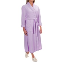 Pocketed Wrap Robe - Long Sleeve (For Women) in Pink - 2nds