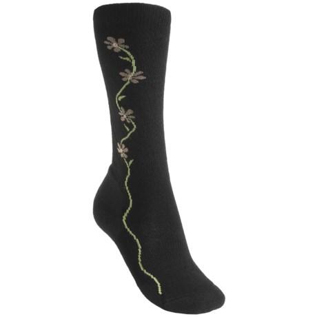 Point 6 Point6 Fleur D'vine Socks - Merino Wool, Over-the-Calf (For Women) in Black