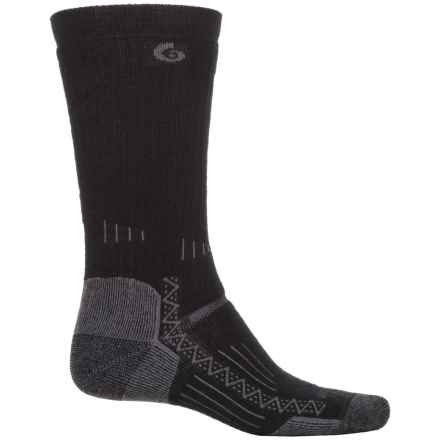 Point 6 Point6 Midweight Hiking Tech Socks - Merino Wool, Crew (For Men and Women) in Black - Closeouts