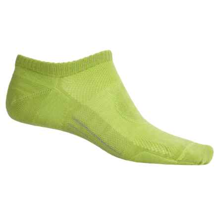 Point 6 Point6 Running Ultralight Socks - Merino Wool, Below the Ankle (For Men and Women) in Lime - 2nds