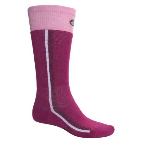 Point 6 Snowboard Socks - Merino Wool, Over-the-Calf (For Men and Women) in Fuchsia