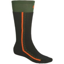 Point 6 Snowboard Socks - Merino Wool, Over-the-Calf (For Men and Women) in Olive - 2nds