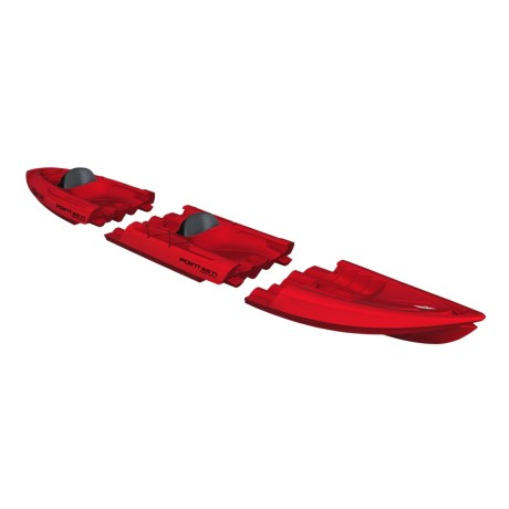 "Point 65 Tequila Tandem Modular Kayak - 13'8"" in Red"