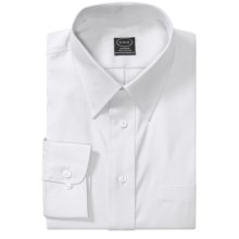 Point Collar Dress Shirt - Long Sleeve (For Men) in White - 2nds