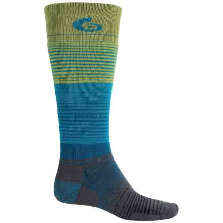 Point6 1448 Midweight Ski Socks - Merino Wool, Over the Calf (For Men and Women) in 240 Lime - 2nds